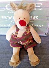Doudou Peluche chien beige nez rouge 35 cm Les Zazous MOULIN ROTY TBE + cadeau