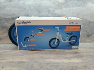 "Chillafish Charlie 10"" Kids' Balance Bike - Blue/White: Ages 18-48 Months - NEW"