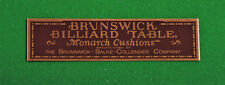 Reproduction Brunswick-Balke-Collender Antique Pool Table Nameplate