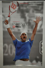 ROGER FEDERER 2004 US Open Champion (N)Code Wilson Tennis Poster Vintage (153)