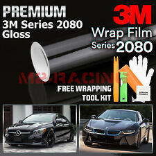 Genuine 3M 2080 Series G12 Gloss Black Vinyl Wrap Vehicle Film Decal Bubble Free