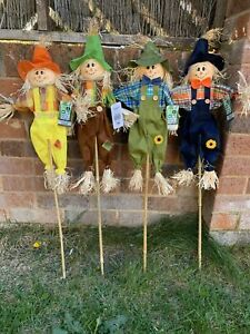 "1 x Decorative Rustic Scarecrows 32"" Attractive / Deter Birds Pests Garden Lawn"