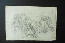 FRENCH NEOCLASSICAL SCHOOL - BIBLICAL-HISTORICAL SCENE - FINE INK DRAWING