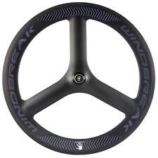 65MM Tri Spokes only Front Carbon Wheels Road Bike WindBreak 3 Spokes Wheel 700C