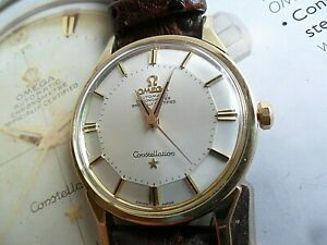 Gold Capped Pie Pan Vintage 1966 Men's Omega Constellation Chronometer 24J Watch