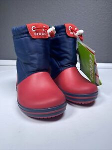 Crockband Londgepoint Boot Crocks Size Child 7 Boys Red and Blue