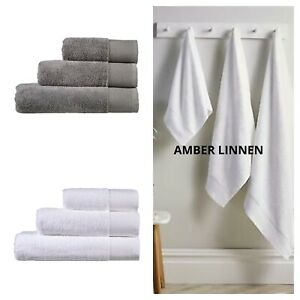 White And Grey Bamboo Towels 60% Bamboo 40% Cotton Hand And Towels Bath Sheets