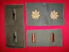 3 Pairs Of Subdued Collar Patches: WARRANT OFFICER 1 + MAJOR + 2nd LIEUTENANT