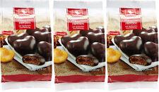 Weiss 3x 150g gefüllte Zartbitter Lebkuchen Herzen mit Aprikosenfüllung 450g