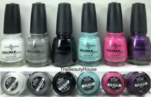China Glaze CRACKLE Collection 6 Colors Nail Polish 978 - 983 Complete Set
