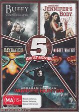 5 MOVIES Buffy / Daywatch / Vampire Hunter / Nightwatch / Jennifer's Body DVD R4