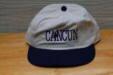 Rare Vtg Cancun Mexico Travel Tourism Beach Vacation Snapback Hat Cap