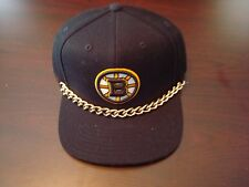 BOSTON BRUINS GOLD CHAIN REEBOK  RARE NEW  RETRO  SCRIPT  HAT CAP SNAPBACK