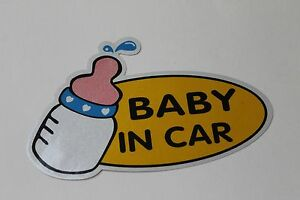 Baby In Car Baby on board Car Safety Decal  Sticker