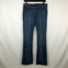 ROCK & REPUBLIC Women's JEANS 32x35 28 DENIM KASANDRA PINK Jewel CROWN STITCHING