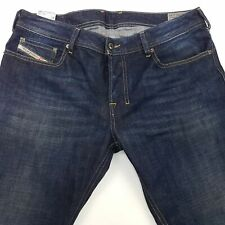 Diesel ZATINY Mens Jeans W34 L29 Dark Blue Regular Fit Bootcut Mid Rise