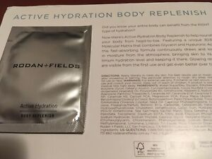 AUTHENTIC NEW RODAN+FIELDS ACTIVE HYDRATION BODY REPLENISH SAMPLE PACKET CARD