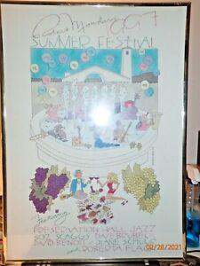 Scarce 1997 Robert Mondavi Summer Music Festival Color Poster by Jerry White
