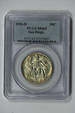 1936-D PCGS MS65 Classic Commemorative San Diego Half Dollar-Really Nice Luster