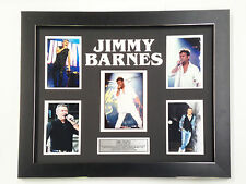 JIMMY BARNES PROFESSIONALLY FRAMED, SIGNED PHOTO COLLAGE WITH PLAQUE