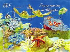"French Polynesia ""FISH ~ CORAL GARDENS ~ POLYNESIAN MARINE FAUNA"" MNH MS 2013 !"