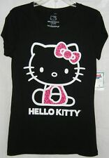 Hello Kitty Tee T-Shirt Animal Print BACK TO SCHOOL FREE USA SHIPPING MEDIUM
