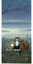 """MARK DENMAN  CAT PICTURE SIGNED  PRINT """" Harmony """""""