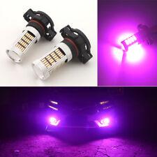 2pcs Pink Purple 92-SMD 5202 H16 LED Bulbs for Fog Lights Daytime Running Lights