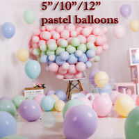 "100Pc 5"" 10"" 12"" Macaron Candy Pastel Latex Balloon Wedding Party Decor Birthday"