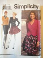 Vintage 1992 Sewing Pattern Slim or Full Skirt & Lined Jacket Size 10-14