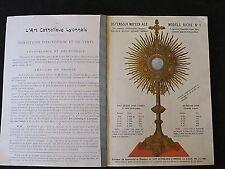 L'Art Catholique Lyonnais catalogue n° 2 de 1900  bronzes chasublerie orfèvrerie