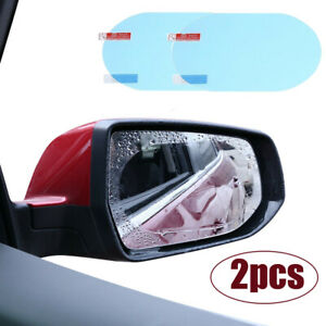 2pcs/set Oval Anti Fog Rainproof Rearview Mirror Trim Film Cover Car Accessories