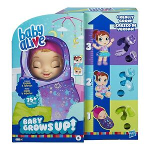 Baby Alive Baby Grows Up (Dreamy)Growing and Talking Baby Doll * FAST SHIPPING