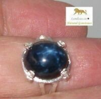 8.76 ct.Star Sapphire Silver Ring
