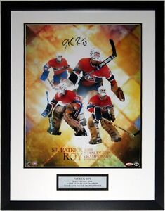 Patrick Roy Autographed 16x20 Photo Upper Deck UDA COA Framed Stanley Cup Plate