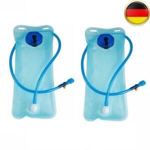 2x2l Trinkblase Wasserbeutel Tasche Rucksack Blase im Freien Radfahren Wandern
