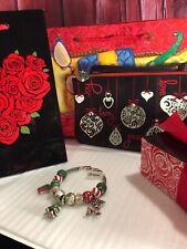 New BRIGHTON Christmas Holiday LOADED Charm Bracelet + Wristlet Rare $306.50