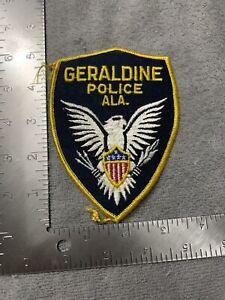 Alabama Police -Geraldine  Police  AL  Police Patch