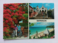 Bermuda Vintage colour Postcard 1980 Multi view