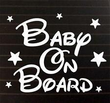 Baby on Board Stars car bike window STICKER DECAL VAN CAR COLOUR DUB JDM