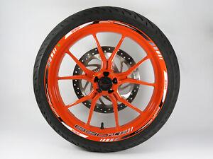 710050 Rim Bordo Adesivo Nero Bianco Compatibile Con KTM 890 Duca R