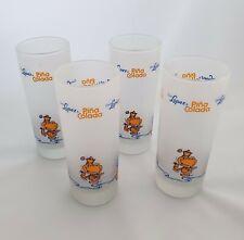 Vintage Coco Lopez Pina Colada Glass Set of 4 Barware Tiki Recipe Frosted Glass
