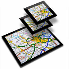 Glass Placemat  & 2x Coaster  - Beziers Town France French Travel Map  #44276