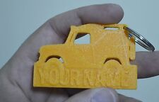 Personalised 4x4 Keyring Rubber 3D off road key ring Keychain fob novelty