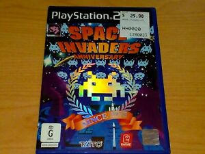 SPACE INVADERS ANNIVERSARY PS2 PLAYSTATION 2 GAME COMPLETE VGC.