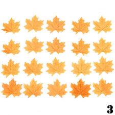 Pack of 100X Artificial Maple Leaf Garland Silk Autumn Fall Leaves Garden Decor
