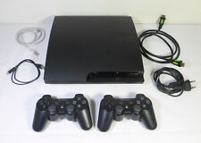 SONY PLAYSTATION 3 PS3 BLACK PAL VIDEO CONSOLE CECH-3004A w/ 2 CONTROLLERS WORKS