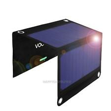 VODOOL 14W 5V Foldable Portable Solar Panel Charger Dual USB Charger Battery
