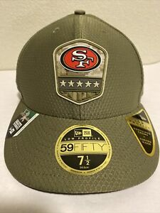 Men's San Francisco 49ers Salute To Service Hat Cap Size 7 1/2 Low Profile New