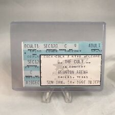 The Cure Reunion Arena Dallas Texas Concert Ticket Stub Vintage January 14 1990